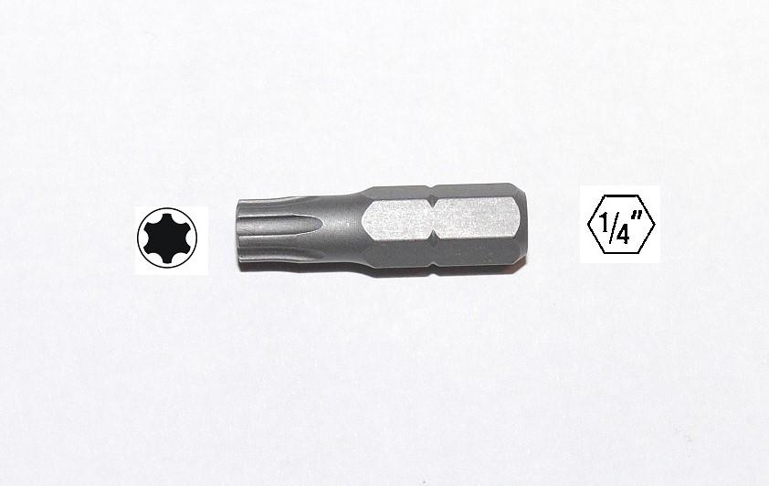 2 x Schraubendreherbits T27 x 25 mm Schaft 1//4 Zoll