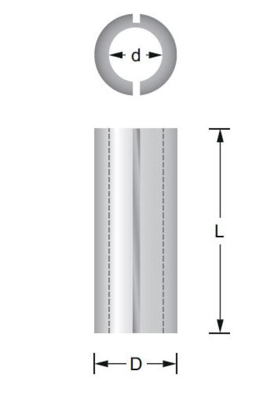 Reduzierhülse 6 x 12 , für Fräser Titman-Hülse6-12